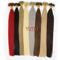 Wish | 50S 16-22inches 1g/s Women's Pre Bonded U/NAIL Kertain Tip Ombre Real Hair Extensions Straight
