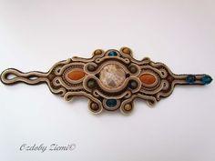 Ozdoby Ziemi: Bracelet soutache Beige Rocaille