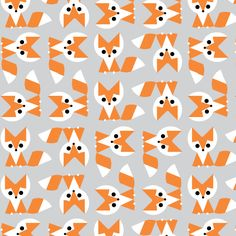 Fox :: Picture Pie by Ed Emberley for Cloud9 Fabrics