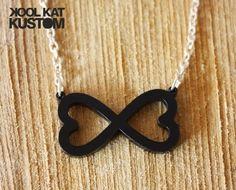 INFINITE LOVE Halskette Unendlich Herz Kette Infinity Unendlichkeit Necklace ♥ S   eBay
