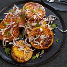 Roasted Squash with Red Onion, Oregano and Mint