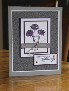 Christa's engagement by Durham Stamper - Cards and Paper Crafts at Splitcoaststampers Flower Stamp, Flower Cards, Cuttlebug Embossing Folders, Office Organization, Sympathy Cards, Stamp Sets, Soft Colors, Scrapbook Cards, Homemade Cards
