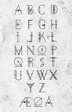 Occultype I Typography by Jeppe Kjøller, via Behance Hand Lettering Alphabet, Alphabet Design, Calligraphy Alphabet, Calligraphy Fonts, Typography Letters, Typography Served, Alphabet Letters, Spanish Alphabet, Preschool Alphabet