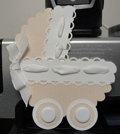 Cute buggy card using scalloped circle die and border punches