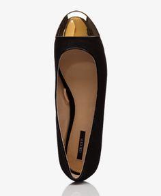 Cap Toe Ballet Flats | FOREVER21 - 2027566176