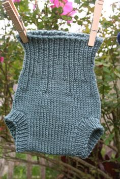 Wool Windings: Knitted Wool Soakers. Variation on free basic pattern.