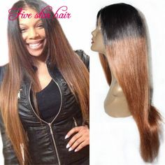 Find More Human Wigs Information about Best quality Brazilian lace front wig Glueless Straight Ombre full lace Human Hair wigs with natural hairline for black women,High Quality wig needle,China wigs made of human hair Suppliers, Cheap wig ariel from Five star human hair products store  on Aliexpress.com