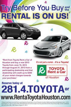 Summer Special, Car Rental, Toyota, Around The Worlds