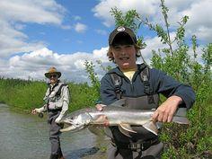 Fishing for King Salmon in Alaska