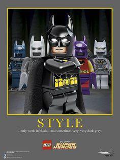 Lego Batman has style. Lego Batman 3, I Am Batman, Lego Dc, Batman Comics, Dc Comics, Batman Stuff, Batman Art, Superhero Room, Best Superhero