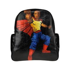 Brown Boy Superhero Multi-Pockets Backpack for boys (Model 1636) Boys  Backpacks 10c00c6813864