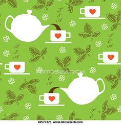 Illustration about Seamless texture with the image of Kettle and cups with green tea leaves. Illustration of pattern, drink, green - 23257203 Green Tea Plant, Seamless Textures, Medical Illustration, Perfect Photo, Royalty Free Photos, Art Images, Clip Art, Leaves, Stock Photos