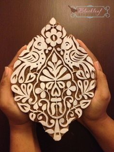Wood Block Printing Hand Carved Indian Wood