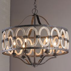 Driftwood Entwined Ovals Chandelier wrought_iron option color-family room 2 and 1 fan or 1 and 2 fans