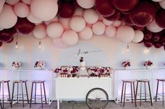 Little Big Company | The Blog: Burgundy and Pink with hints of gold / This Stunning Balloon Themed Party is by Styled by Coco in Melbourne