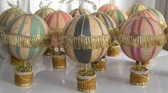 Hot Air Balloon Paper Mache ornament by Iva's Creations, via Flickr