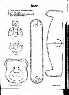 [Teddy Bear Picnic] Toilet paper/Paper towel tube bear craft