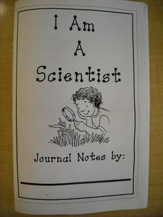 First Grade Classroom Science Center journal for students to record their observations and research. Inside are pages with lines for writing on half and space for drawing on the other half.