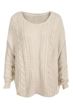 Romwe Cable Knit Dolman