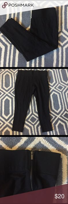 Black stretch leggings Black stretch leggings. Size XL. Perfect to pair with boots and a sweater! Zipper on the left hip - eat a big meal, you've got extra space (lol). Super comfy and only worn once! jules & leopold Pants Leggings
