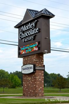 Morley Chocolate Factory in Clinton Township, Michigan. Free tours