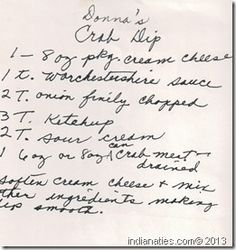 Family Recipe Friday - Donna's Crab Dip #geneabloggers #genealogy