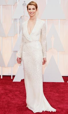 All the red carpet looks from the 2015 Oscars: Faith Hill in J Mendel. Photo: Getty