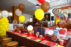 Party table from Vintage Travel Themed Birthday Party at Kara's Party Ideas. See more at karaspartyideas.com!