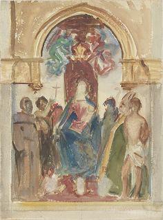 Madonna and Child and Saints John Singer Sargent