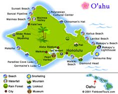 Free Printable Map of Oahu | You will be driving parallel to the ocean and you can stop at the ...