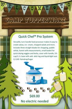 #Summer #Camp begins with #GoGreen #Quick #Chef #Pro for simple, quick & easy #fresh ideas like #salsa in minutes ! www.my.tupperware.com/candykay
