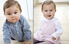 Prince Vincent and Princess Josephine, twins of Crown Prince Frederik and Crown Princess Mary of Denmark