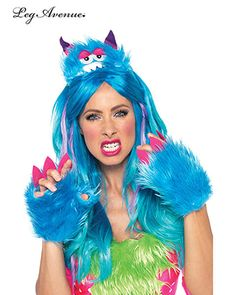 Scary Barry Furry Monster Kit for Womens Sexy Furry Monster fancy dress costumes and Halloween costume accessories by leg avenue available to buy online in the UK for next day delivery Monster Costumes, Girl Costumes, Adult Costumes, Costumes For Women, Cartoon Costumes, Cosplay Costumes, Rave Accessories, Halloween Accessories, Costume Accessories