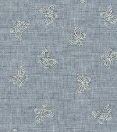 Keepsake Calico™ Cotton Fabric-Buterflies Gray w/Silver Metallic