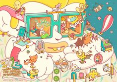 Brosmind illustrates 20 Things That Happened on the Internet in 2013 - Digital Arts