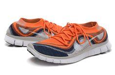 WMNS Free Flyknit+ Orange Free Running Shoes, Nike Basketball, Nike Free, Sneakers Nike, Footwear, Orange, Women, Fashion, Nike Tennis