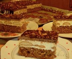 Píďák.cz - Recept - Nebeské slavnostní řezy - těmi opravdu ohromíte Slovak Recipes, Czech Recipes, Ethnic Recipes, No Cook Desserts, Thing 1, Pavlova, Sweet And Salty, Desert Recipes, Tiramisu