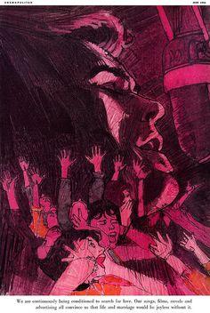 Bob Peak, illustration in Cosmopolitan Illustrations, Illustration Art, American Illustration, Bob Peak, Manga Drawing, Art Boards, Cover Art, Art Inspo, Painting & Drawing