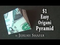 In this tutorial, I'll show you how to fold an origami flower from 3 one dollar bills. This money origami flower project is a great gift idea if you plan to ...
