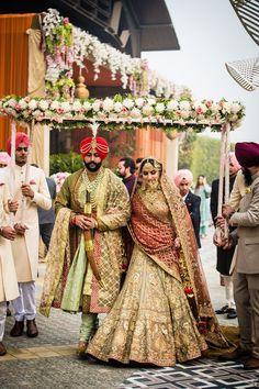best=Patiala bride ensembled in a customised Designer Duo Rimple Harpreet Narula lehanga DIY PROM Wedding Lehnga, Indian Bridal Lehenga, Indian Bridal Outfits, Sikh Wedding, Wedding Stage, Wedding Goals, Wedding Outfits, Sikh Bride, Wedding Dresses