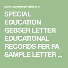 Download sample letters for requesting evaluations and reports special education gebser letter educational records fer pa sample letter from parent of special education student to school requesting all of students spiritdancerdesigns Images