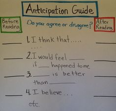 Help ELLs comprehend complex texts with these easy to follow directions for creating an anticipation guide.