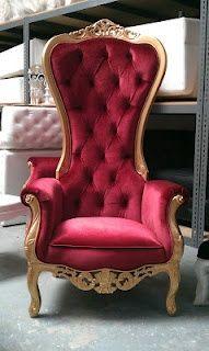 Ft Tall Throne Chair French Baroque Wedding Bride Groom Throne