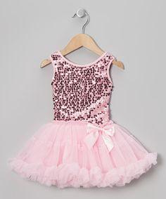 Pink Sequin Pettiskirt Dress - Infant, Toddler & Girls