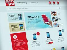 GENPA e-commerce web design