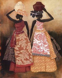 Village Women II Art Print by Carol Robinson