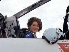 Godspeed Sally    Ride takes a last look at Houston before taking off in a T-38 jet, bound for NASA's Kennedy Space Center in Florida three days before becoming the first U.S. woman in space.