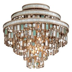 Shop for Corbett Lighting Dolcetti 3-light Silver Semi-flush. Get free delivery at Overstock.com - Your Online Home Decor Shop! Get 5% in rewards with Club O!