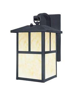 One-Light Exterior Wall Lantern with Dusk to Dawn Sensor