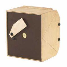 Leonardo 4x5 Wood Pinhole camera (3 in. focal length). Accepts 4 in. x 5 in. film holders or Polaroid 545 backs